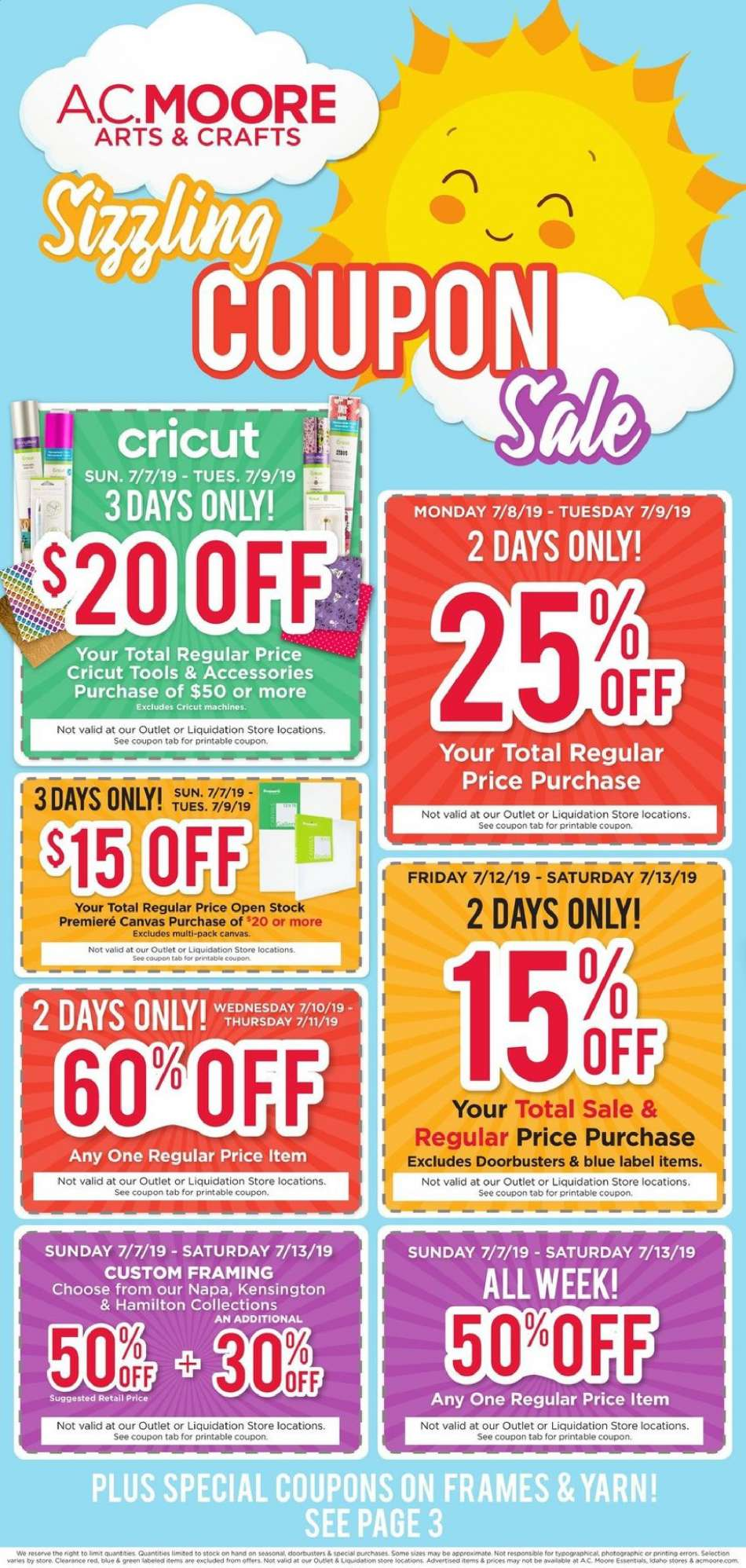 picture relating to Ac Moore Printable Coupons named A.C. Moore flyer 07.07.2019 - 07.13.2019