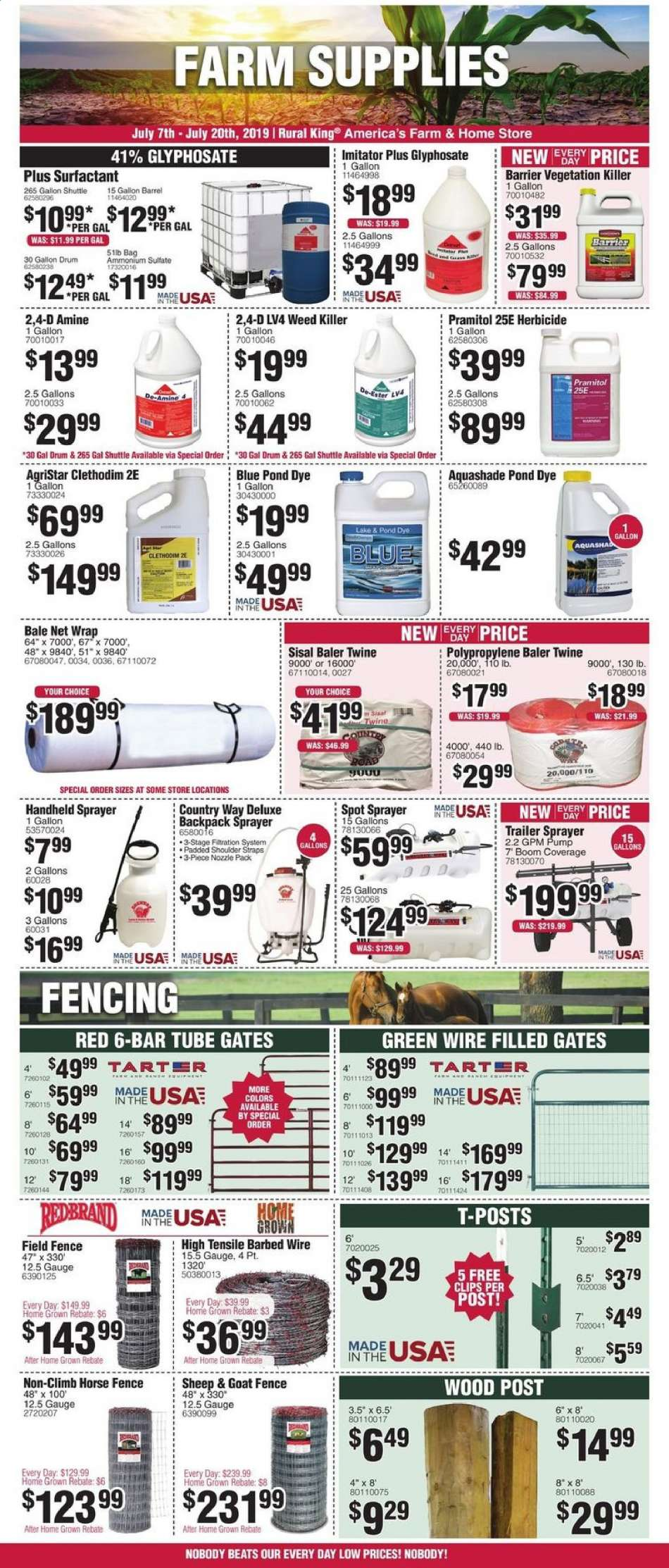 Rural King flyer 07 07 2019 - 07 20 2019 | Weekly-ads us