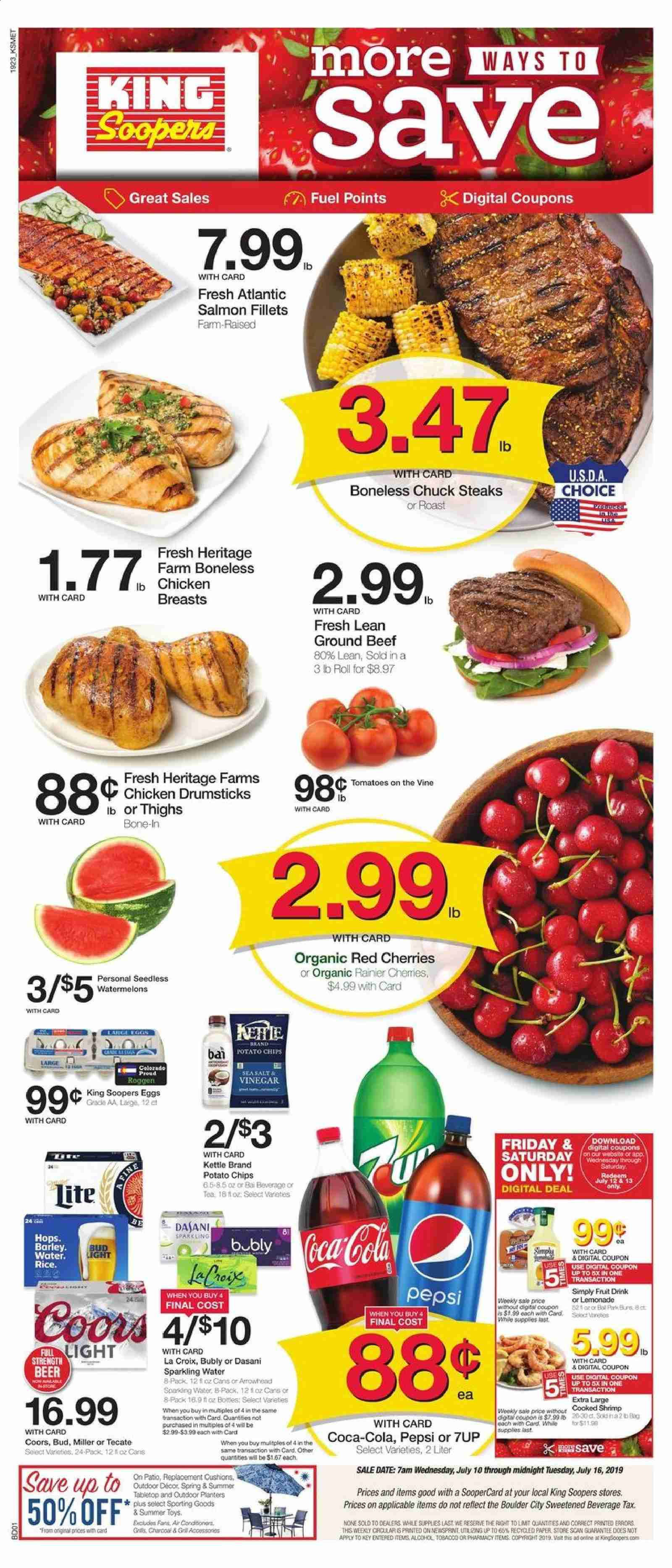 King Soopers Flyer  - 07.10.2019 - 07.16.2019. Page 1.