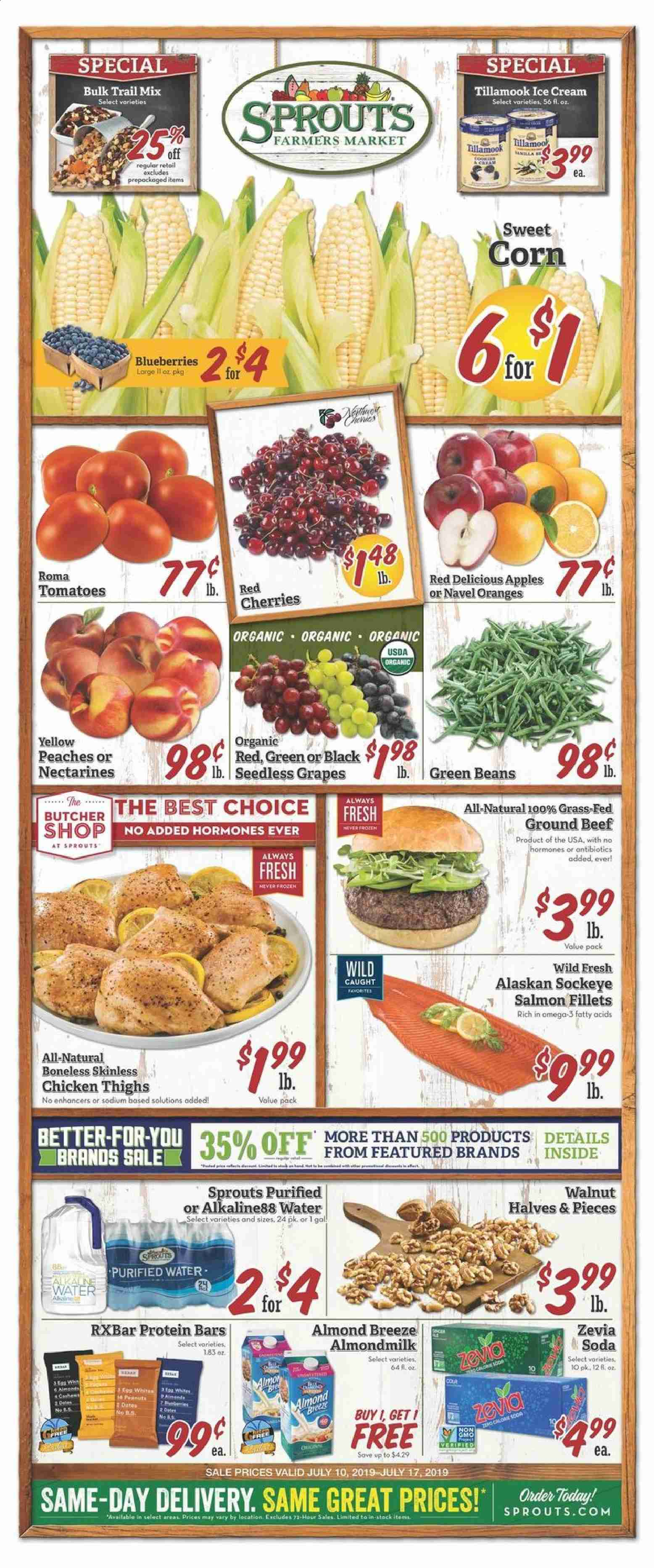 Sprouts Flyer  - 07.10.2019 - 07.17.2019. Page 1.
