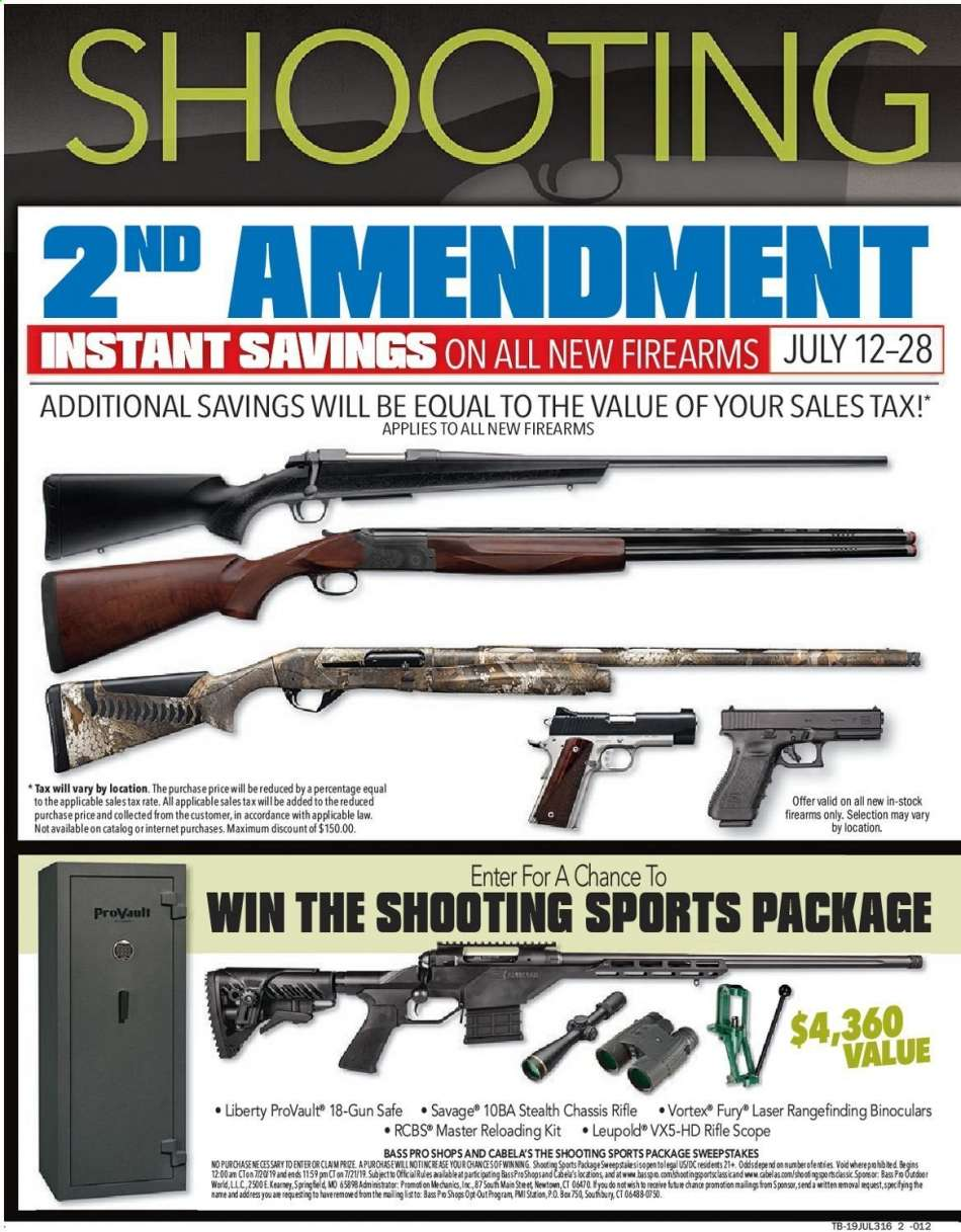 Bass Pro Shops flyer 07 12 2019 - 07 28 2019 | Weekly-ads us